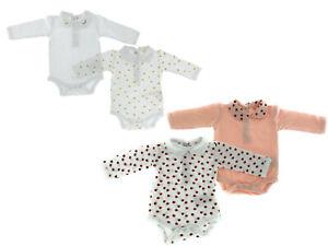 4er-Set-Baby-Body-Bio-Baumwolle-Pyjama-Strampler-Kleinkind-0-24-Monate-Golden
