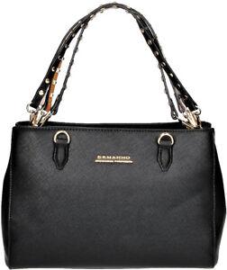 Borsa A Mano Donna Nera Ermanno Scervino Bag Woman Black New Anya  fbde804df393