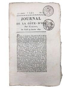 Astorga 1809 Guerre d'Espagne Napoléon Rare Journal de la Côte d'Or Carion
