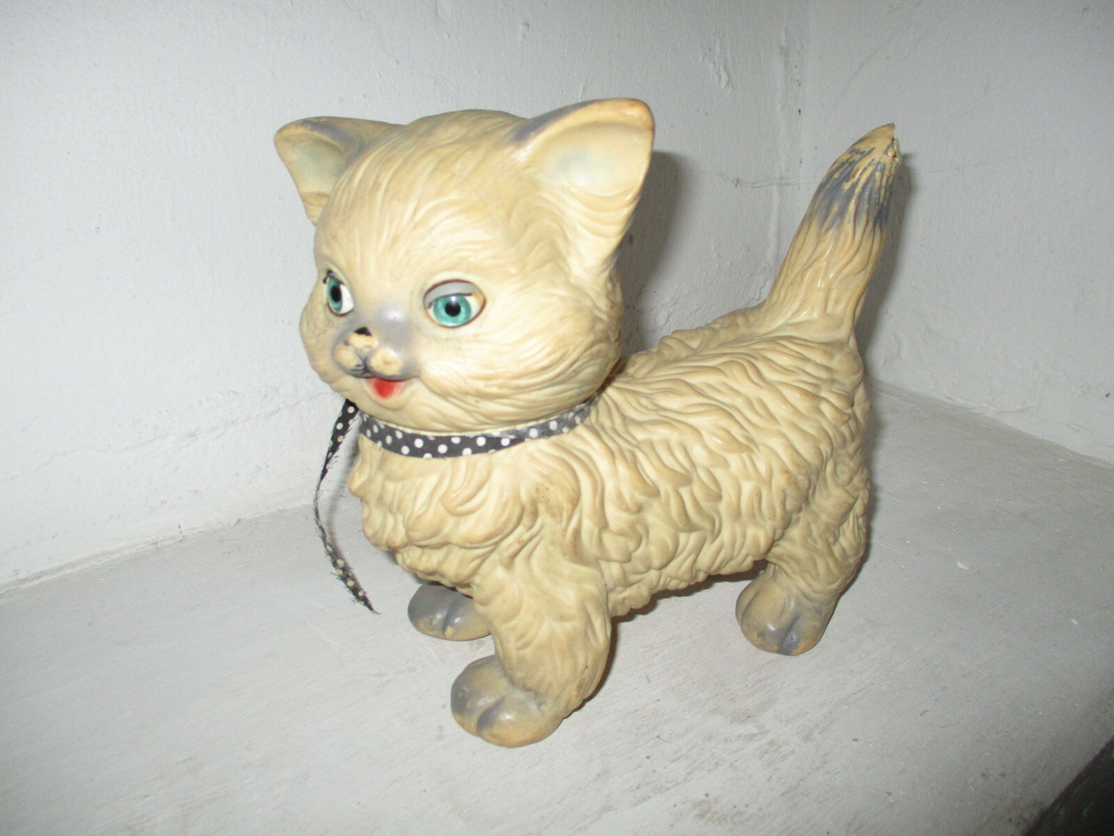GATO DE JUGUETE DE LOS AÑOS 50   CAT TOY OF THE 50s
