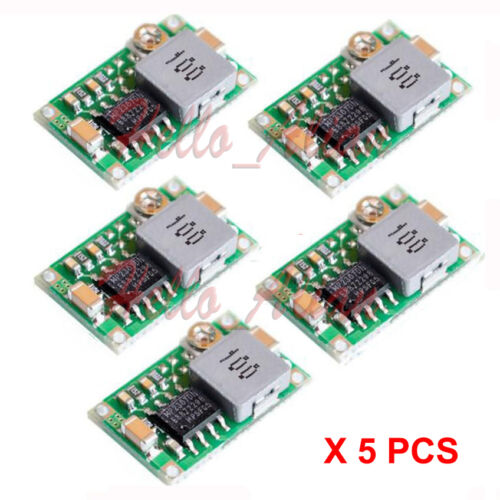5pcs DC-DC Buck Step Down Adjustable Converter Module 3.3V 5V 6V 9V 12V 3A Max