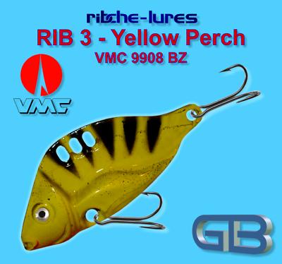 VMC 9908 BZ 8 g RIB 2 Yellow Truite art Appât ribche Lures 20 g Cicaden