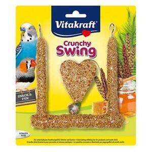 Gâteries pour graines et croquettes pour oiseaux Vitakraft Crunchy Swing Parakeet Bird Nibble 80gm