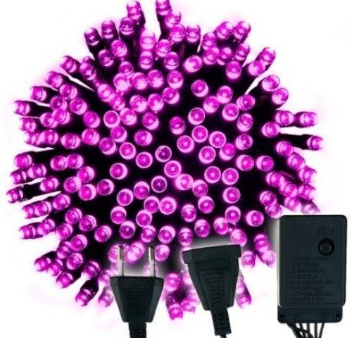 ***200 LED farbe Pink Weihnachten Lichterkette Ihnen//Außen Beleuchtung***