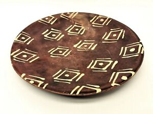 Unusual-Chipped-Old-Southwest-Style-Geometric-Pattern-Eye-Decorative-Plate