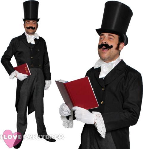 VICTORIAN MAN COSTUME MENS CHRISTMAS CAROLLER FANCY DRESS COSTUME DICKENSIAN