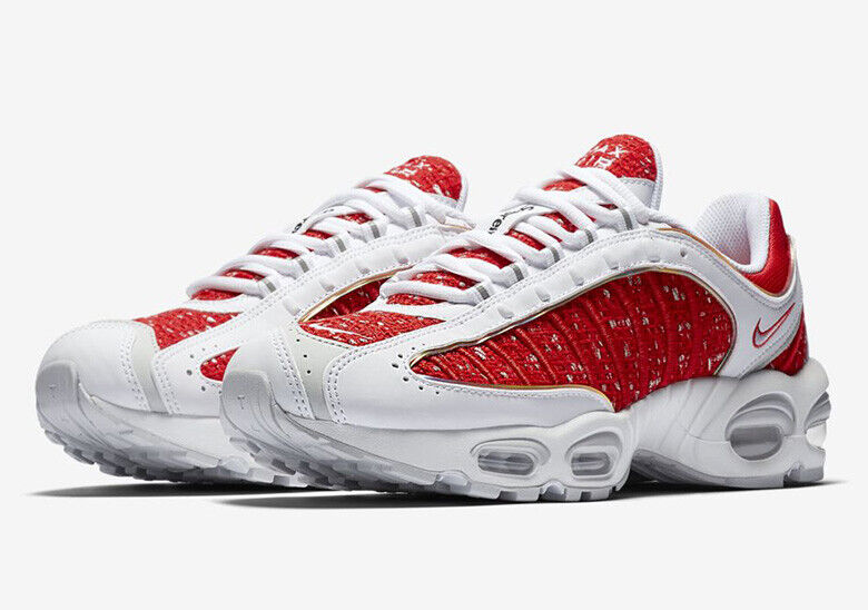 Supreme X Nike Air Max Tailwind IV White Red Size 10.5 - EU 44.5