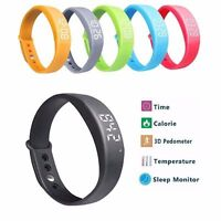 Smart Wrist Watch W5 Bracelet Pedometer Track For Alarm Steps Walking Counter