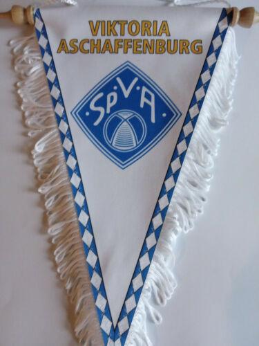 VIKTORIA ASCHAFFENBURG Wimpel,Fanion,BANNER Pennant 17x28 cm mit fransen
