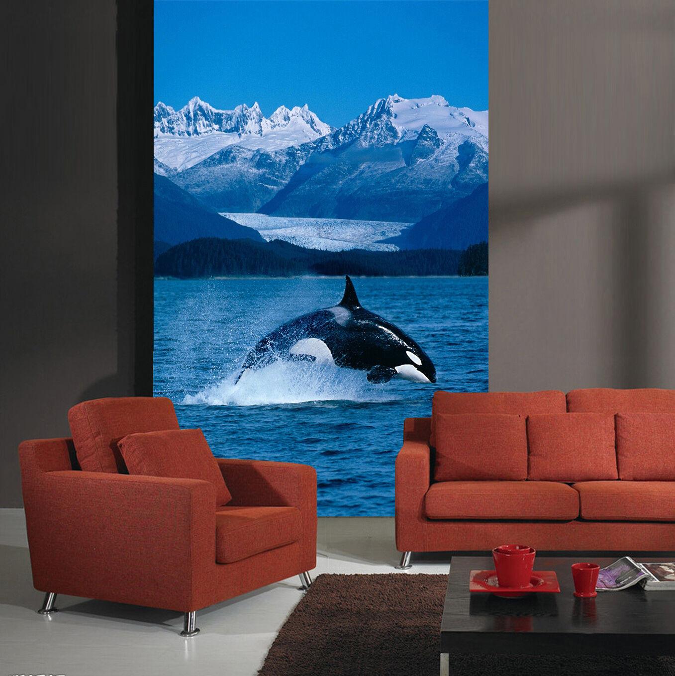 3D Sky Hill Dolphin 72 Wallpaper Mural Paper Wall Print Wallpaper Murals UK