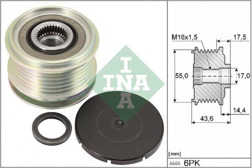 Generatorfreilauf für Generator INA 535 0105 10