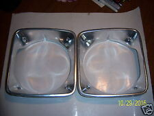1976/77PLYMOUTH VOLARE/ROADRUNNER R & L OEM HEADLIGHT BEZELS,GOOD USED PAIR