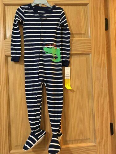New Carter/'s Alligator Footie Pajama PJs Boy Sleeper 1pc Snug Fit Cotton Navy