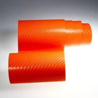 (8,55€/m² ) PREMIUM 4D Carbon Auto Folie Orange Glanz Luftkanäle BLASENFREI