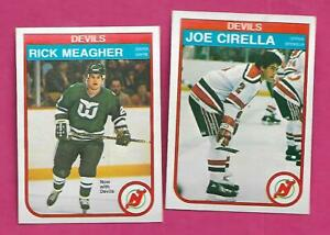 1982-83-OPC-DEVILS-RICK-MEAGHER-RC-JOE-CIRELLA-RC-CARD-INV-C2454