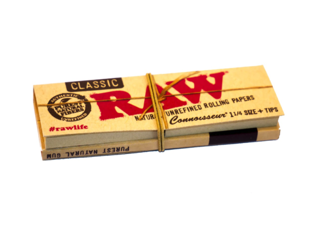 1 RAW Classic 1 1/4 Papers Tips Smoking Cigarette Tobacco Paper Roll