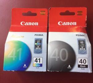 2-Genuine-OEM-Canon-Pixma-Ink-Cartridges-PG-40-Black-amp-CL-41-Color-NIP