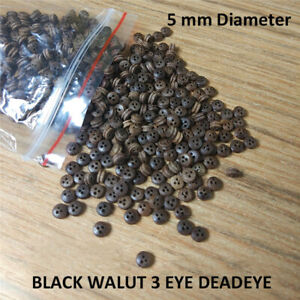5 MM 3 eyes Deadeyes Pulley Accessories for Wooden Ship Model Kits-20 pcs