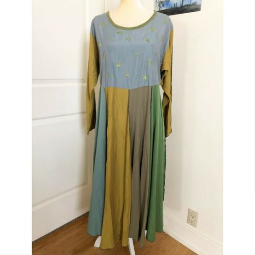 Staley Gretzinger Dress Maxi Long Sleeves Cactus W