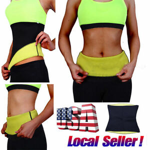 db3bf9a414 Waist Trimmer Exercise Wrap Belt Slim Burn Fat Sweat Weight Loss ...