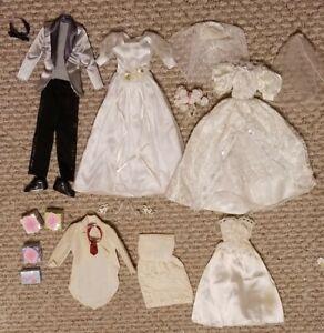 Vtg Barbie Doll Clothes Lot Bundle 1990s Clothing Evening Wedding Bride Dress Ebay