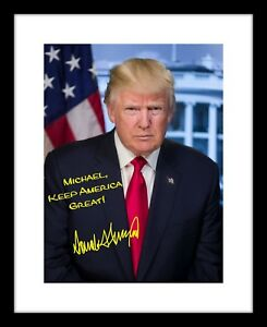 Personalized-Donald-Trump-8x10-Signed-Photo-Official-Print-Autographed-Your-Name
