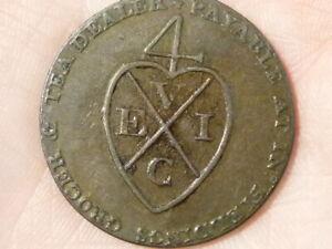 Contemplatif 1793 Demi Penny Fielding 'manchester Pictorial Jeton Coin #t2375-afficher Le Titre D'origine