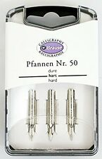 BRAUSE CALLIGRAPHY NIBS. PFANNEN NR.50. PACK OF 3 NIBS. 0.45mm HARD 300050B