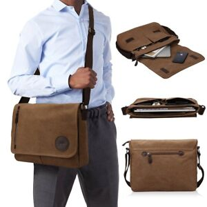 Details About Messenger Bag 13 5 Macbook Professional College Mens Womens Side Bags Brown