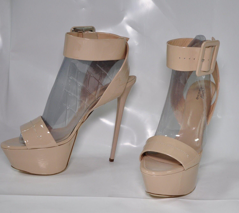 Grifi Genuine Italian made hi-heel leather strappy sandals - Size EU43 w 7  heel