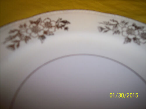 "*1 HOMER LAUGHLIN CHINA CO 7.25/"" SALAD DESERT PLATE W// GOLD RIMS PATTERN L46 N 6"