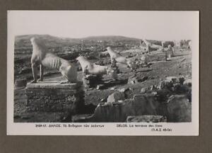 Delos-LIONS-Mykonos-RP-Photograph-Vintage-Postcard-L-402