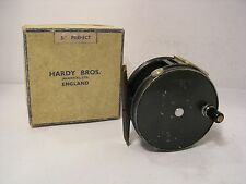 "VINTAGE IN SCATOLA Hardy Perfect 3 3/4 ""Wide DRUM SALMONE FLY FISHING REEL"