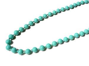 De Couleur Perles Collier Verre Fermoir Necklace Vis Turquoise Sur Bijou Sautoir Détails À OXwk8n0P