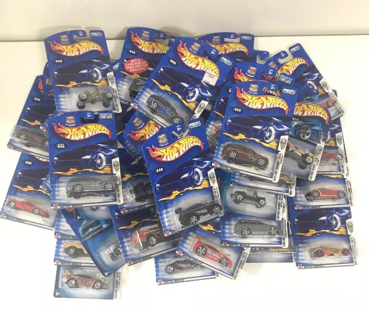 Gran Lote De 41 Surtido Coches De Hot Wheels 2003 Primera Edición