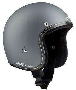 BANDIT-premiumhelm-asphaltgrau-gris-Casque-jet-CHOPPER-casque-casque