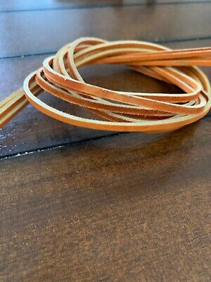 """1 STRAND OF ALUM TANNED BROWN LEATHER LACE 1//8/"""" BY 72/"""" LONG. NEW"""