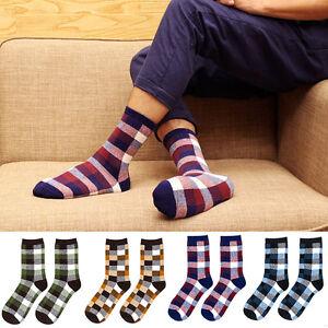 Business Sport Style Argyle Pattern Crew Cotton Dress Socks Multi Colors Men's