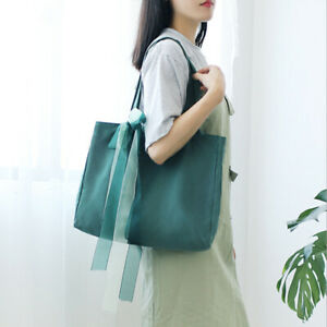 Women-Cute-Fashion-Canvas-Handbag-Shoulder-Bag-Simple-Style-Purse-W