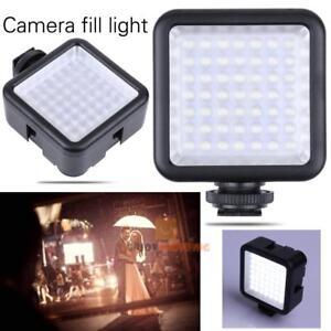 49-LED-Video-Kamera-Licht-Panel-Foto-Lampe-6000K-fur-Universal-Kamera-Stockfotos