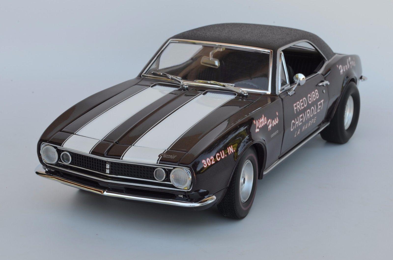 Exact détails détails détails 1967 Chevy Camaro z28 étage Eliminator  Little HOSS  Herb Fox 1:18 6d714a