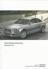 Audi a4/a4 avant s4 + avant a4 allroad quattro 2012 manual de instrucciones de ba