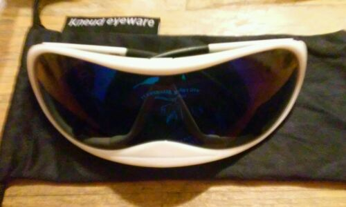 Kneud Face Glove White Sunglasses shield futuristic modern Cool Unique Bike Rare