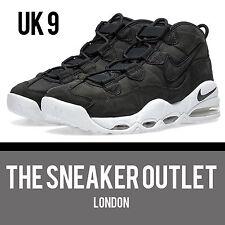 New Mens Nike Air Max Uptempo UK Size 8.5 Trainers // Black Suede Supreme Jordan