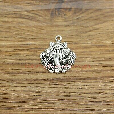 BC1101 6 Beach Charms Antique Bronze Tone Tropical Beach Palm Tree