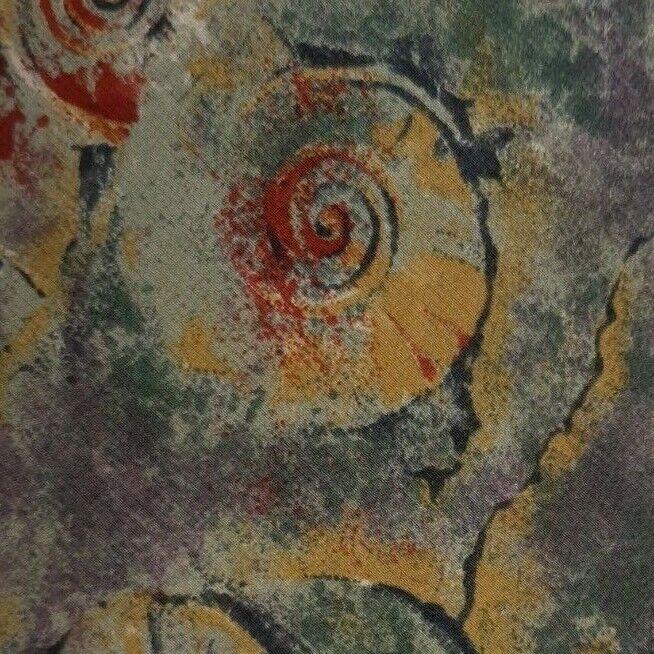 Grün Lila Gold Rot Abstrakt Seidenkrawatte