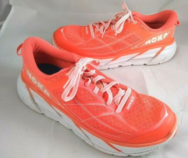 Hoka One One Clifton 2, Women's Running Athletic Shoes, Peach, 1008329 Size 9