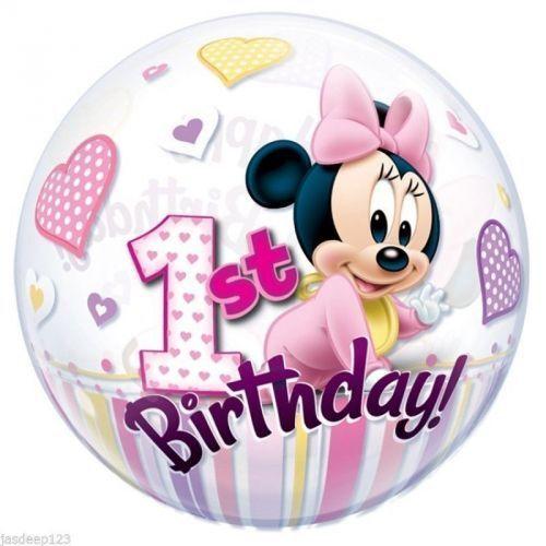 Folienballon 1 Geburtstag Mädchen Girl Rosa Partydeko Ballon Helium Zahl 1