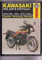 Kawasaki Haynes 910 Owners Workshop Manual 400 500 550 Fours 1979 - 1991