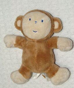 Koala Baby Plush Brown Tan Monkey Blue Stitched Face Small ...